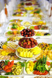Fruits on Festive Table Royalty Free Stock Images