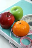 Fruits on a Weighing Scale Stock Photography