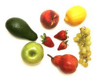 Fruits on white Stock Photos