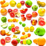 Fruits on white 2 Royalty Free Stock Images