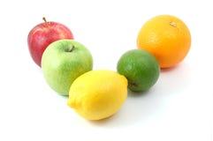 Fruits on white Stock Image