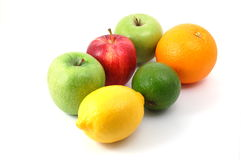 Fruits on white Royalty Free Stock Photos