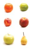 Fruits  on white background Royalty Free Stock Photo