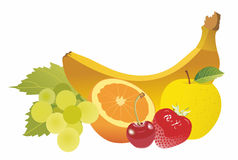 Fruits. On a white background Royalty Free Stock Photography