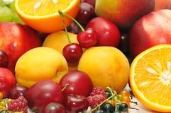 Fruits. On a white background Stock Photos