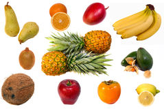 Fruits on white background Stock Photography