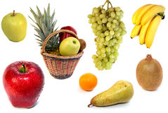Fruits on white background Royalty Free Stock Images