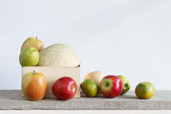 Fruits with a white background. Stock Image