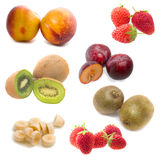Fruits in white background Royalty Free Stock Photo