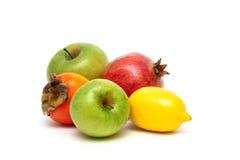 Fruits  on white background Royalty Free Stock Photos