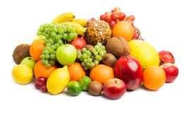 Fruits on white royalty free stock photography
