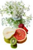 Fruits and white phlox Royalty Free Stock Image