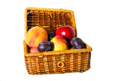 Fruits in the wicker basket Royalty Free Stock Photography