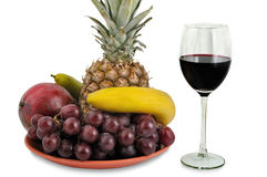 Fruits and Wine Royalty Free Stock Image
