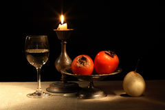 Fruits And Wine Stock Images