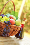 Fruits and wine Royalty Free Stock Photography