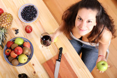 Fruits and wine Royalty Free Stock Images