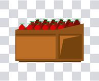 Fruits on wooden shelf. Pixelated Fruits shelf isolated vector illustration graphic design Royalty Free Stock Photography