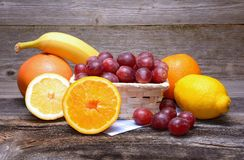 Fruits On Wooden Table Stock Photo