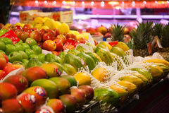 Fruits. World famous Barcelona market, Spain Royalty Free Stock Image