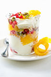 Fruits yogurt Stock Images