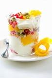 Fruits yogurt Stock Images