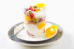 Fruits yogurt Royalty Free Stock Image