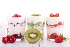 Fruits yogurt Royalty Free Stock Photo