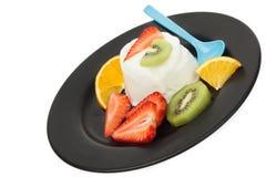 Fruits yogurt stock photos