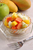 Fruitsalade Royalty-vrije Stock Afbeeldingen