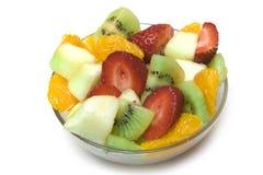 Fruitsalade in de kom Royalty-vrije Stock Foto's