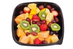 Fruitsalade die op wit wordt geïsoleerda Royalty-vrije Stock Foto