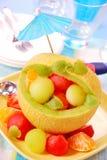 Fruitsalade in meloen Royalty-vrije Stock Afbeelding