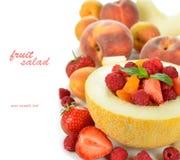 Fruitsalade in meloen Stock Foto