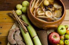 Fruitstempel voor Mexicaanse posadas Stock Fotografie