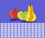Fruittijdschema stock illustratie