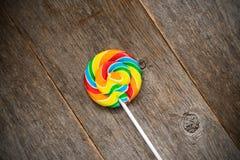 Fruity ζωηρόχρωμο lollipop στοκ φωτογραφία