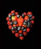 fruity καρδιά μούρων Στοκ φωτογραφία με δικαίωμα ελεύθερης χρήσης