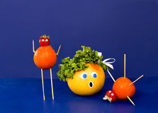 fruity ομάδα χαρακτήρων Στοκ εικόνες με δικαίωμα ελεύθερης χρήσης