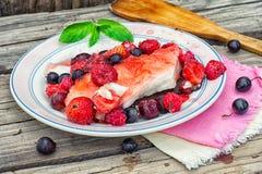 Fruity десерт студня стоковое изображение rf