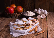 Fruity apple cinnamon mostbiscuits Royalty Free Stock Photo