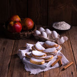 Fruity apple cinnamon mostbiscuits Stock Photography