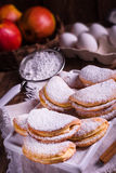 Fruity apple cinnamon mostbiscuits Royalty Free Stock Images