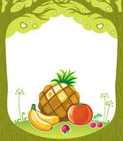 Fruity background. With space for your text royalty free illustration