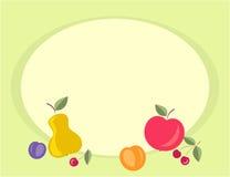 Fruity background. Fresh fruits - vector color image stock illustration
