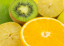 Fruity background. Multicolored background of fresh fruits Royalty Free Stock Image
