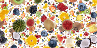 Fruity background (on white) Stock Photos