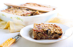 Fruity baked oatmeal Stock Images