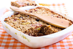 Fruity baked oatmeal Stock Photography