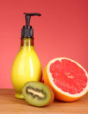 Fruity body lotion Royalty Free Stock Image